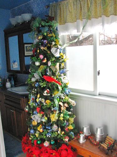 garden tree in downstairs bath