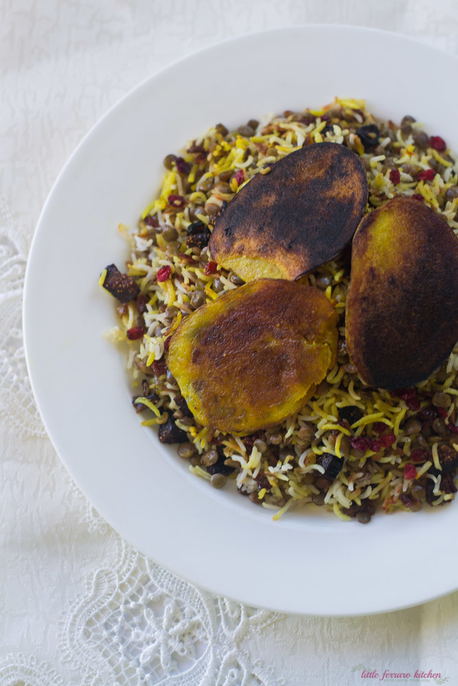 Adas Polow (Persian Rice and Lentils) via LittleFerraroKitchen.com