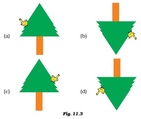 Four Students A B C And D Looked Through Pipes Of Different Shapes To See Candle Flame As Shown In Fig 114