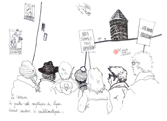 JeSuisCharlie - Le crayon de Lyon - Emily Nudd-Mitchell