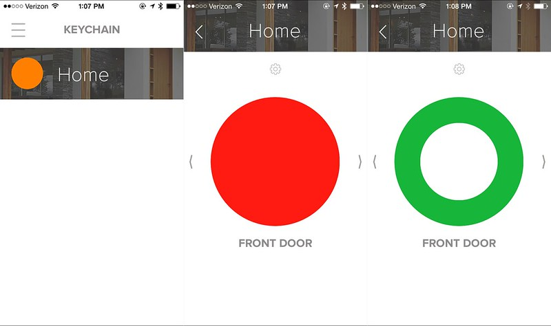 August app lock and unlock screens