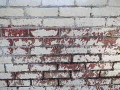 Red and White Brick Wall Background