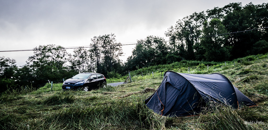 Campeggio improvvisato a San Sebastian