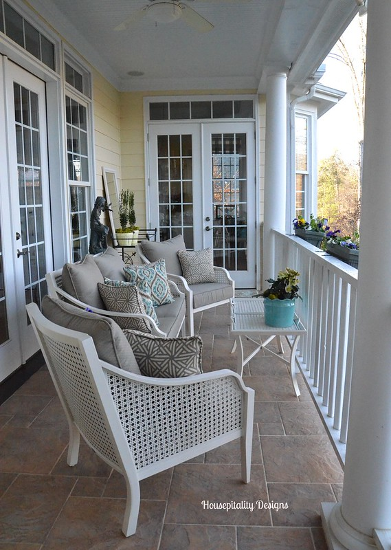 Upper Porch in Winter-Housepitalty Designs