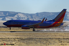 N432WN - 33715 1297 - Southwest Airlines - Boeing 737-7H4 - Albuquerque, New Mexico - 141229 - Steven Gray - IMG_1427