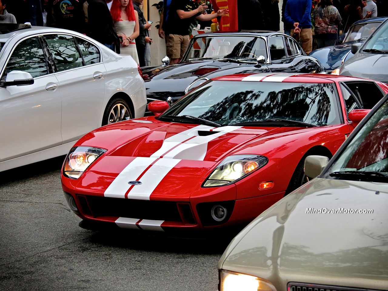 Red Ford GT in Carmel
