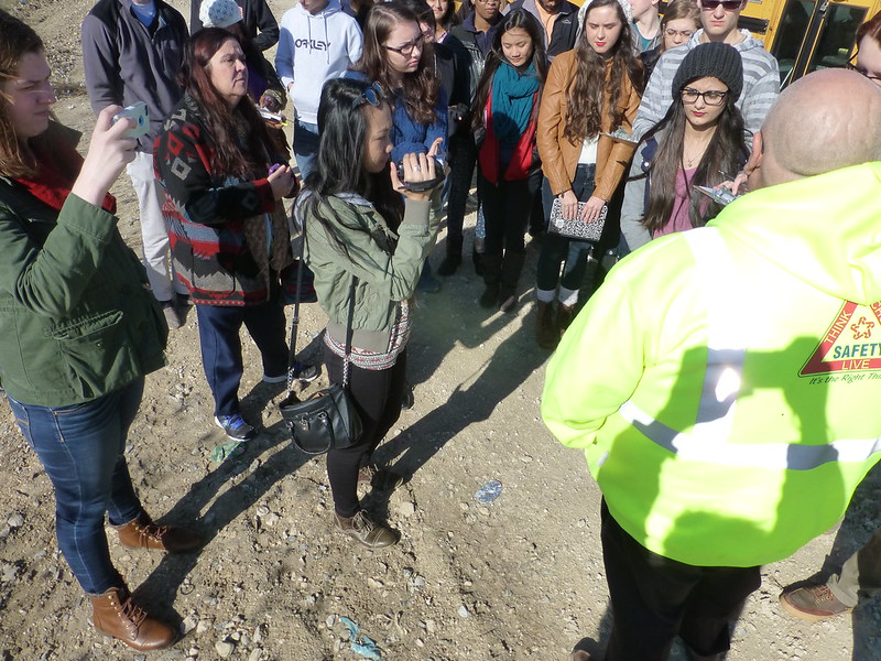 Caddo Magnet HS visit Woolworth Rd Landfill