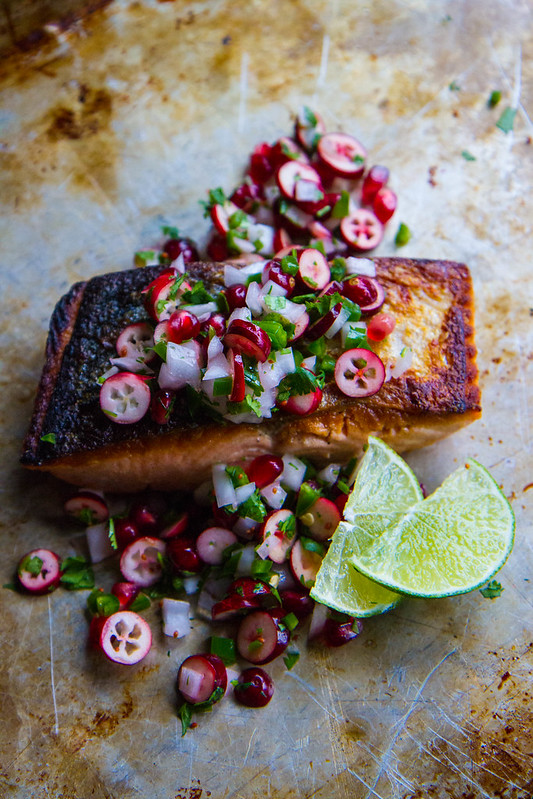 Crispy Salmon with Winter Salsa