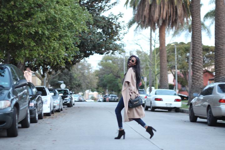 Zara Camel Coat in LA