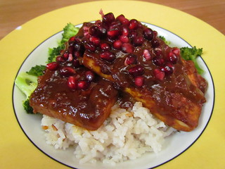 BBQ Pomegranate Tofu