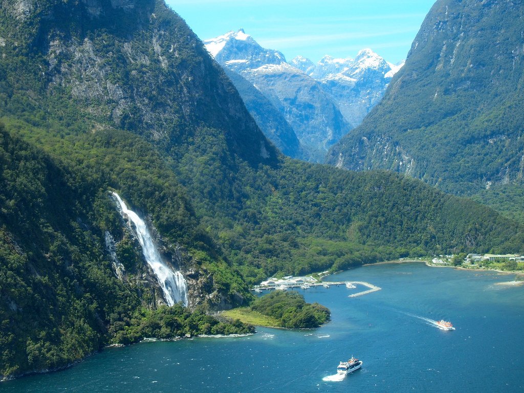Flying over Milford Sound
