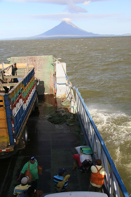 Ferry to Ometepe, Nicaragua.