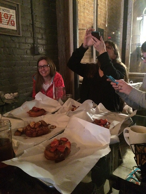 Photographing our Donuts at Gourdoughs
