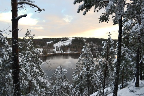 winter lake snow forest espoo finland geotagged nationalpark december u fin nuuksio uusimaa nyland 2011 esbo nuuksionationalpark 201112 20111206 lakesofnuuksio romvuori geo:lat=6029823900 geo:lon=2453987500