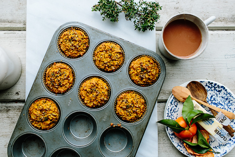 Herbed Sweet Potato + Quinoa Muffins | the year in food