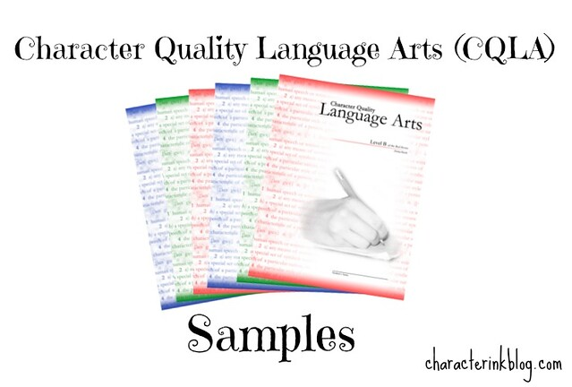 Character Quality Language Arts (CQLA) Samples