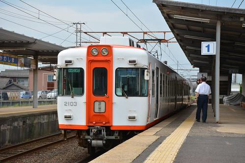 一畑電車2103編成