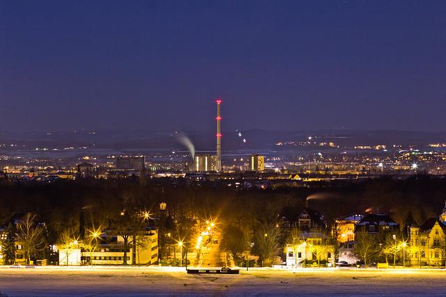 winter night // dresden