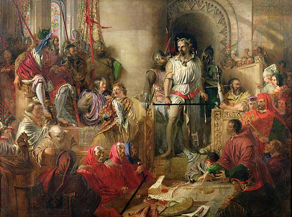 Wallace's trial in Westminster Hall by Daniel Maclise