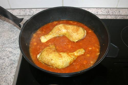 28 - Hähnchenschenkel einlegen / Add chicken legs