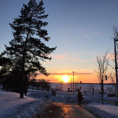 Sunset near Dominion Station, Westboro