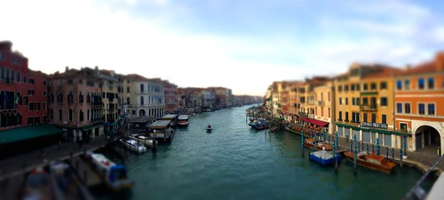 Grand Canal Tiltshift, Venice, Italy, 2015