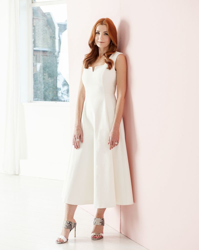 White LK Bennett midi dress SS15