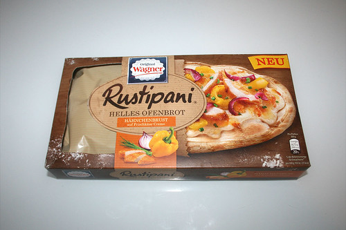 01 - Wagner Rustipani Hähnchenbrust auf Frischkäse-Creme / Chicken breast on cream cheese - Packung vorne / Package back