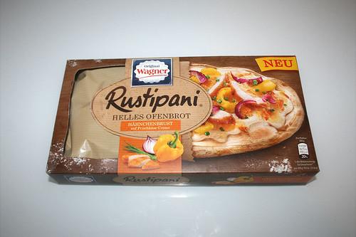 01 - Wagner Rustipani Hähnchenbrust auf Frischkäse-Creme / Chicken breast on cream cheese - Packung vorne / Package back