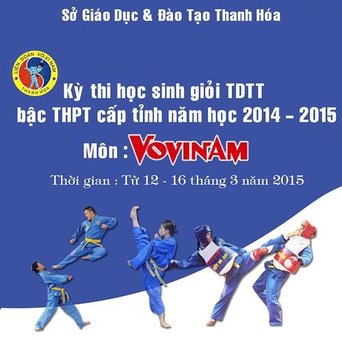 HKPĐ tỉnh Thanh Hóa năm 2015: Môn Vovinam cấp THPT bước vào ngày thi đấu đầu tiên