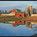 Farmyard reflection near Manchester, Michigan by sjb4photos