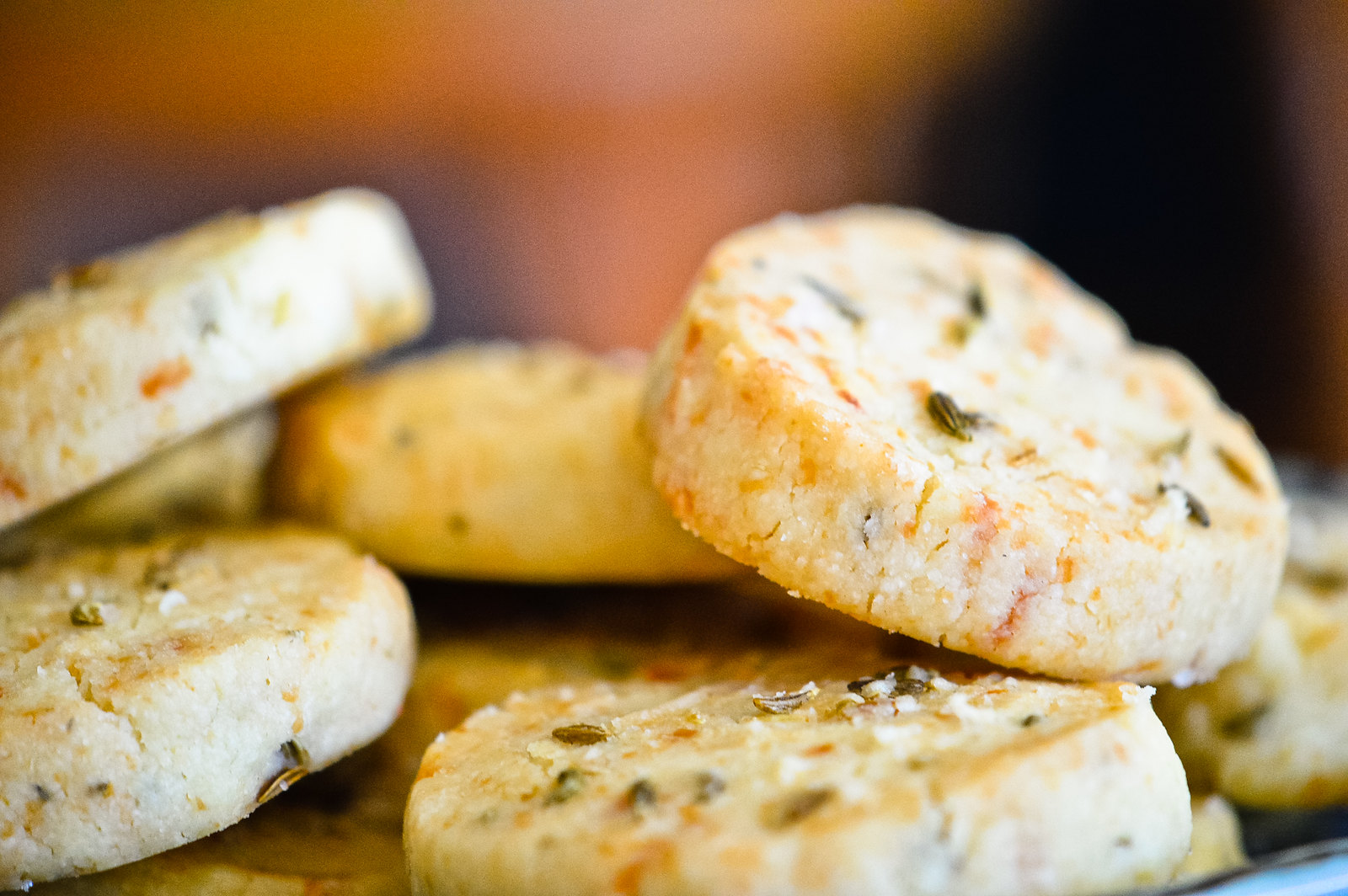Savoury Cheese & Fennel Shortbread with Olive Oil + Sea Salt