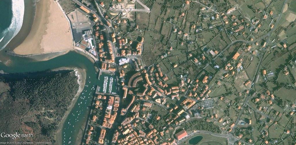 antes, urbanismo, foto aérea, desastre, urbanístico, planeamiento, urbano, construcción,Plentzia, Bizkaia