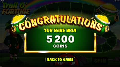Lucky Leprechaun Bonus Feature Win