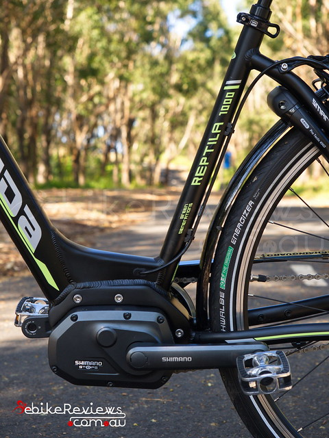 """Gepida Reptila (equipped with Shimano STEPS) • <a style=""""font-size:0.8em;"""" href=""""https://www.flickr.com/photos/ebikereviews/16736351241/"""" target=""""_blank"""">View on Flickr</a>"""