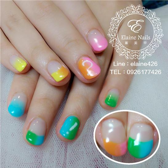 1040123彩虹雙色暈染符號手繪