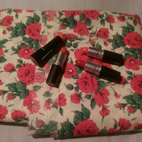 All my birthday presents to myself came at once! #libertyoflondon #mac #lipstickaddict #fabricaholic #nofilter