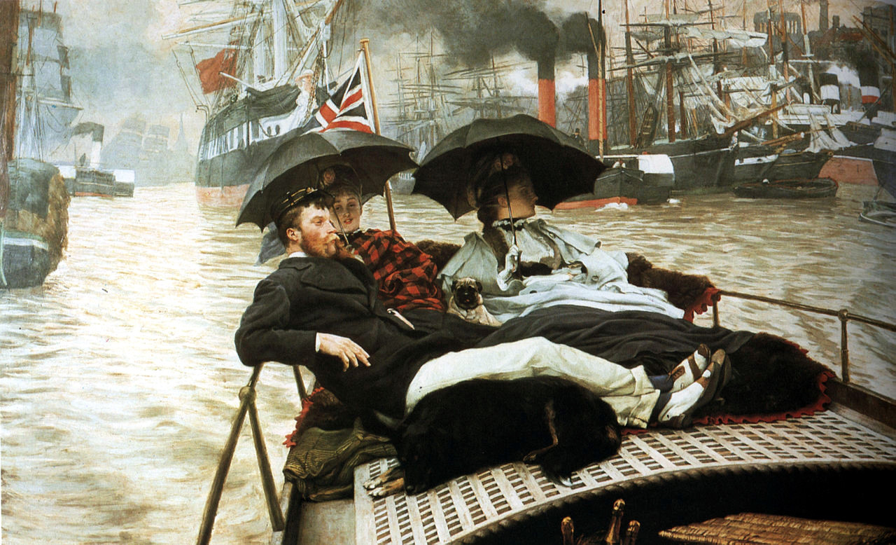 The Thames by James Tissot, 1876