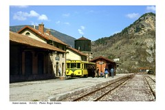 Annot station. 16.4.82 - Photo of Vergons