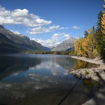 27. September 2016 - 4:44 - The beauty of fall in the mountains. Lake McDonald Glacier National Park Montana.