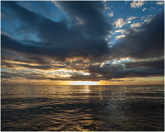 Sunset .  Mauritius