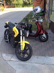 E-bike siting at Bouldin Creek Cafe