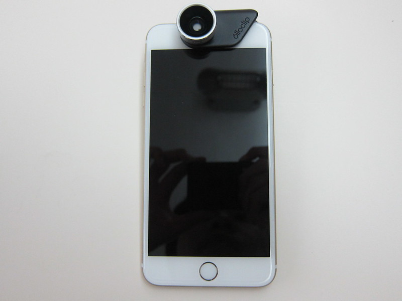 Olloclip 4-in-1 Photo Lens for iPhone 6/6 Plus - With iPhone 6 Plus Front