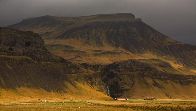 Waterfall Near Eyjafjallajokull