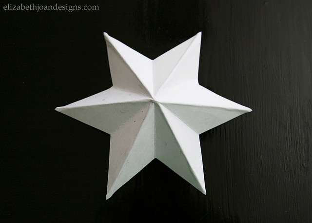 White Paper Star Folded