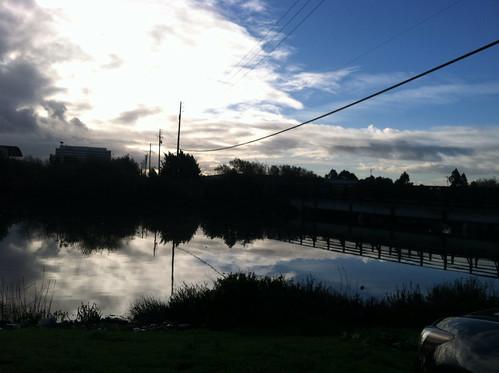 Morning after rain over tidal creek