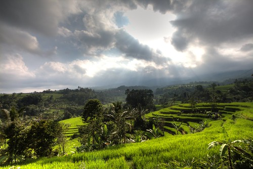travel sun green nature beautiful clouds indonesia landscape id wide rays indah landschaft hdr indonesien canon1022mm