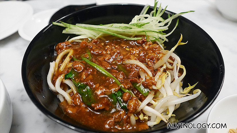 Noodle with Minced Pork & Soya Bean Sauce (炸酱面) ($6.80++)