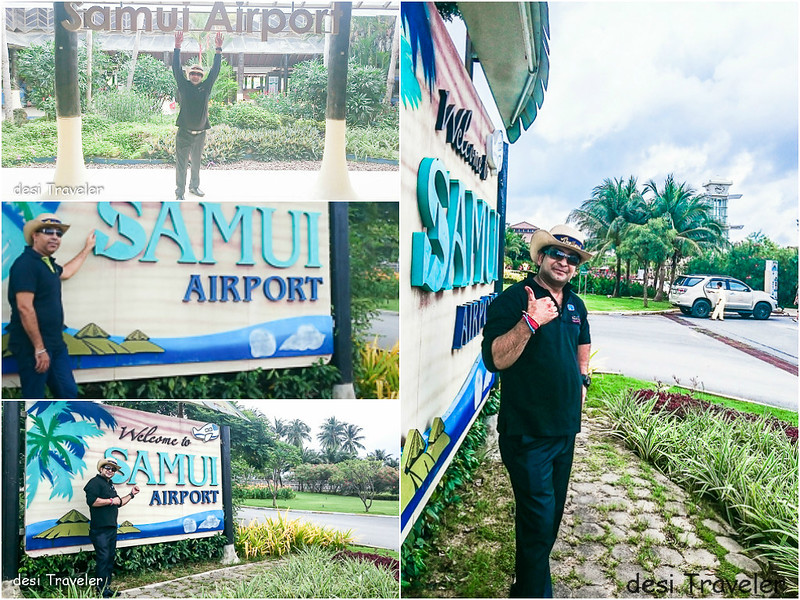 Welcome sign at Koh Samui Airport Selfie
