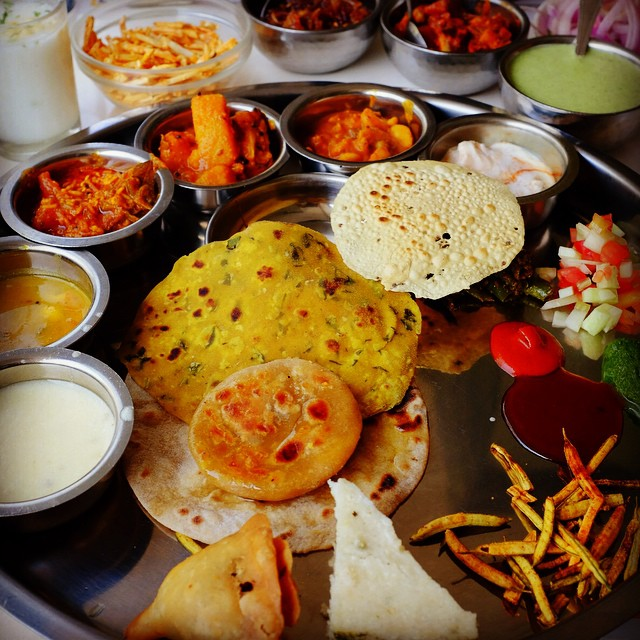 Thali lunch at Samrat. #mumbai #india